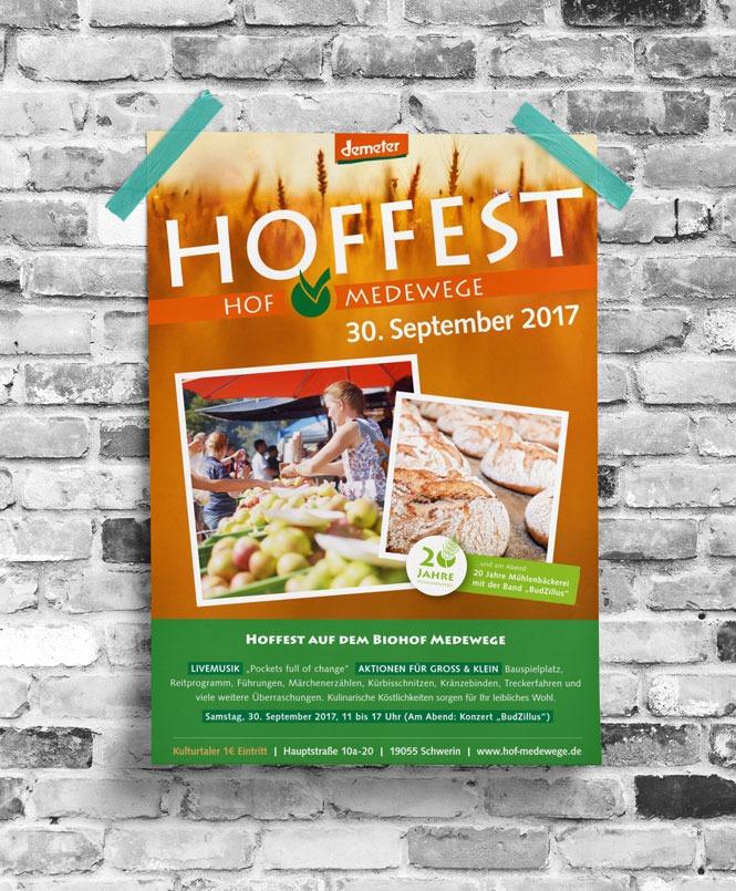 Hoffest Medewege Plakat Vorschaubild